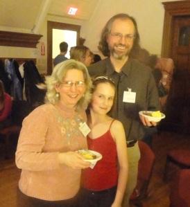 From left: Tammy, Orianna, and Dan McKanan